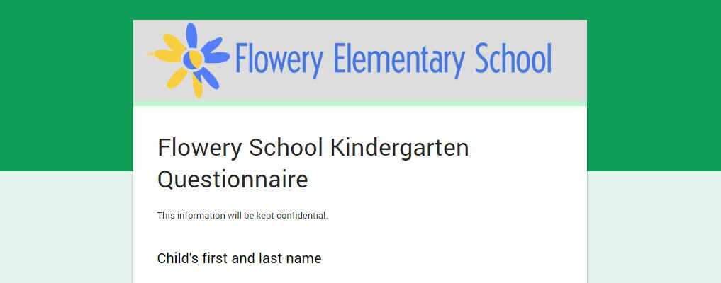 Take the Kindergarten Questionnaire